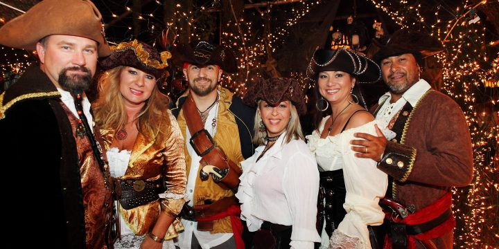 Brixham pirates turn out to open new children's hospice south west's new shop